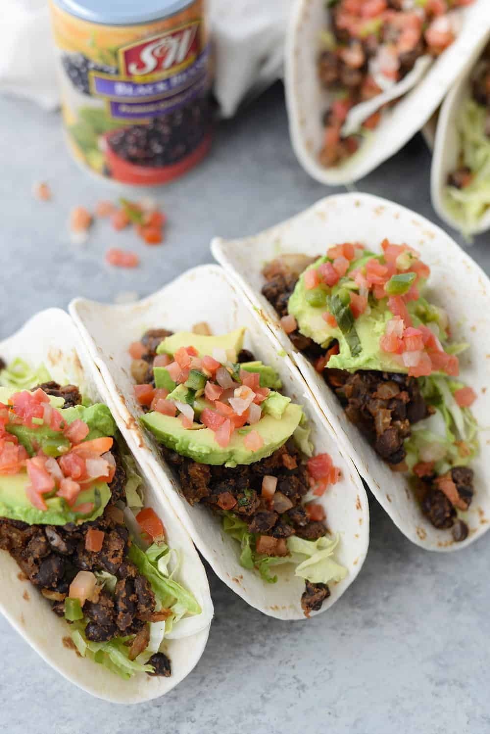 10 Minute Vegan Black Bean Tacos Delish Knowledge