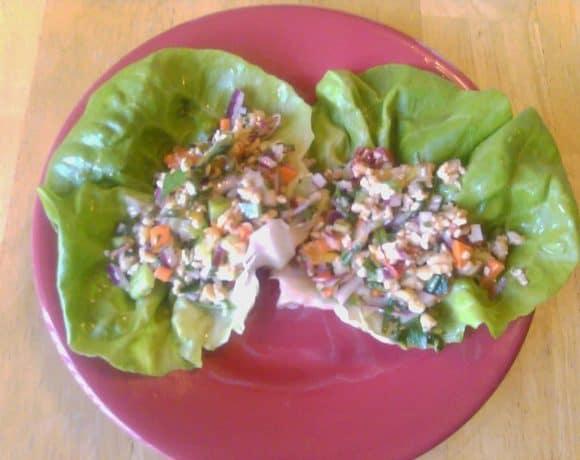 Tempeh Salad Lettuce Cups