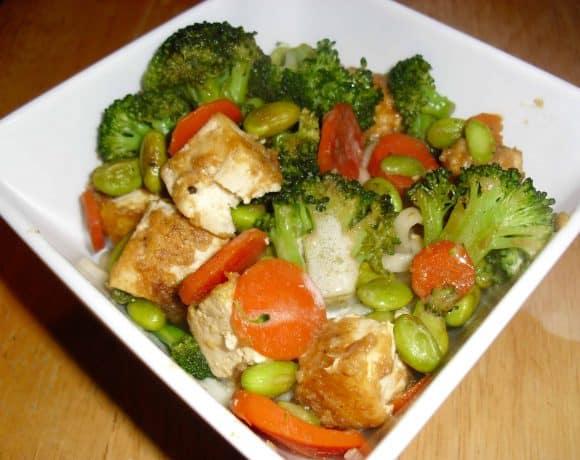 Vegetable Tofu with Sesame Soba Noodles