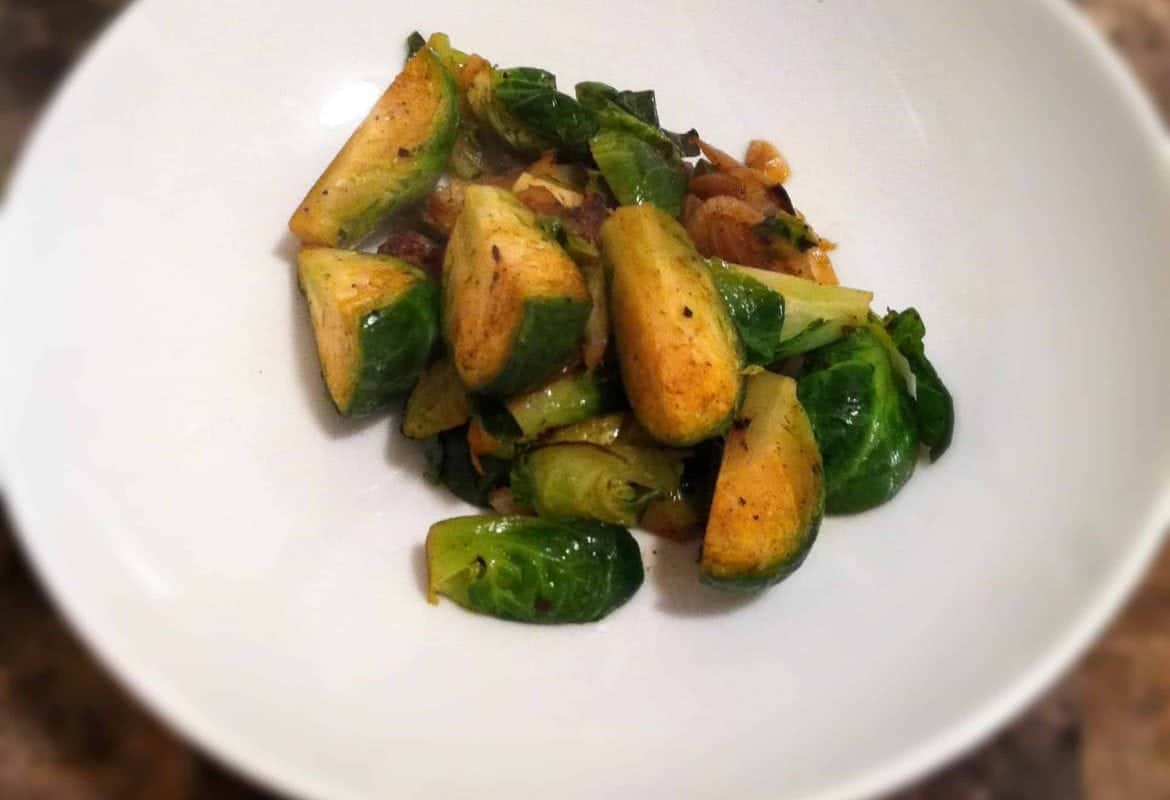 Bacon-less Brussels Sprouts