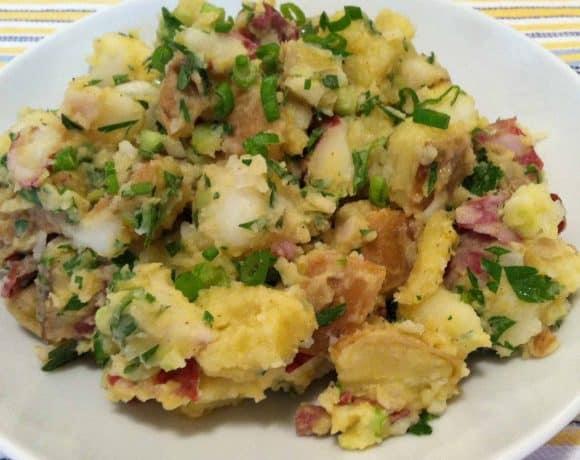 Lightened-Up Mixed Potato Salad