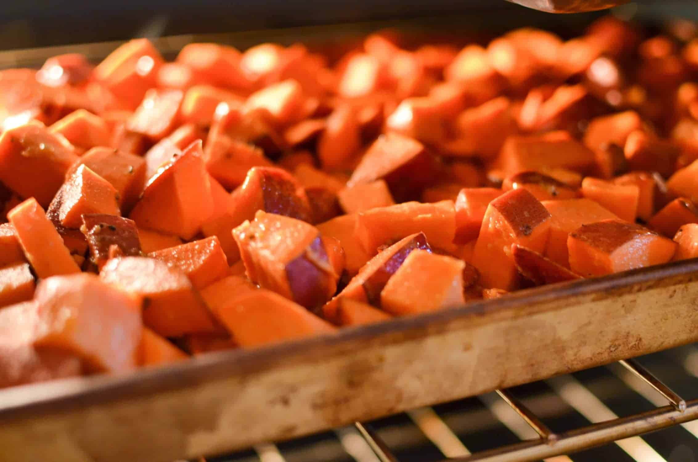 Maple Roasted Sweet Potatoes - Delicious Knowledge