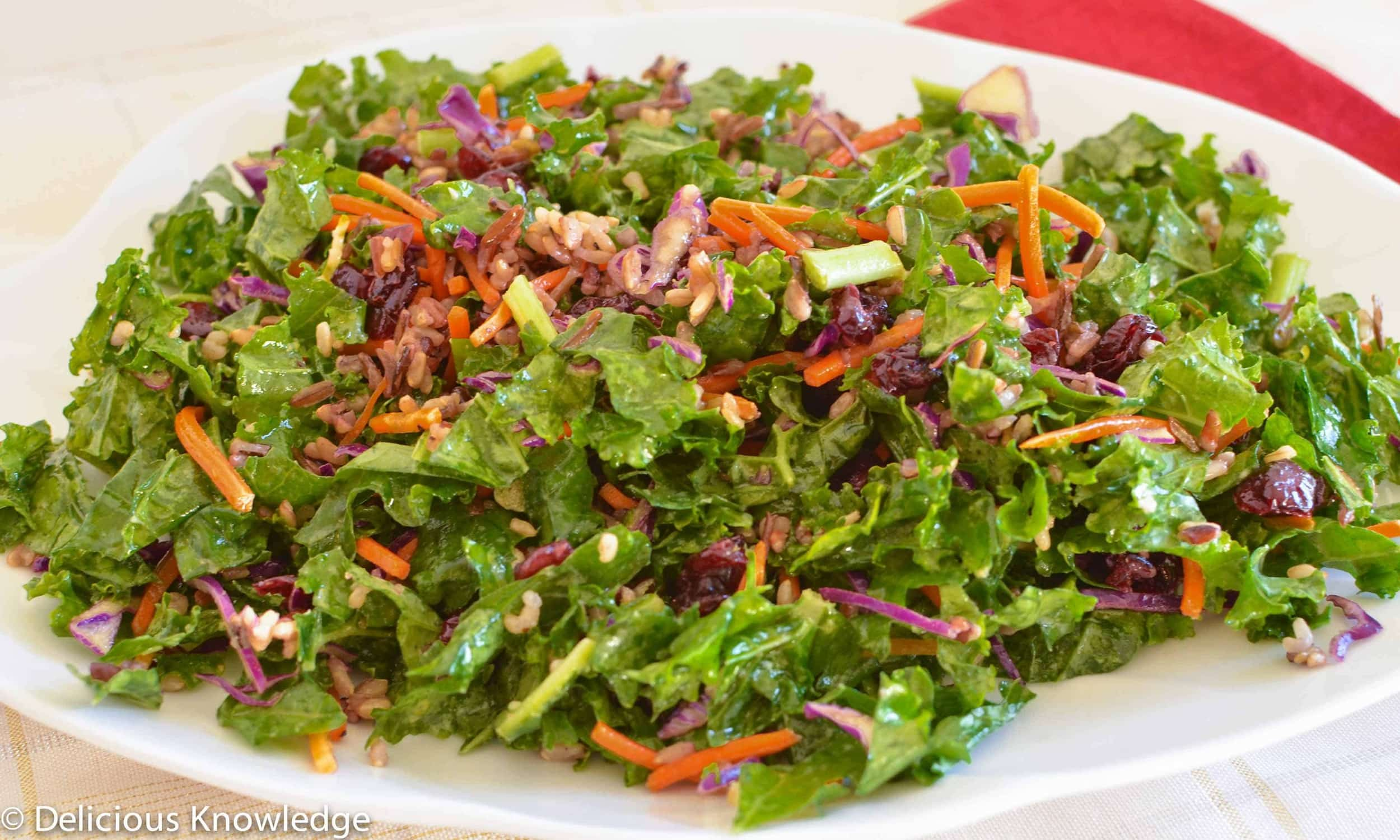 wild rice kale salad save print kale salad with wild rice vegetables ...