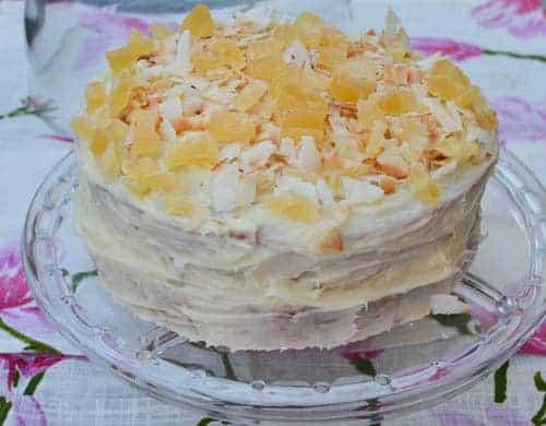 vegan pina colada cake