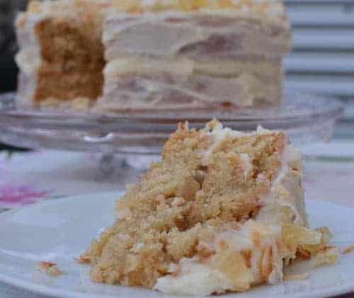 pina colada vegan cake