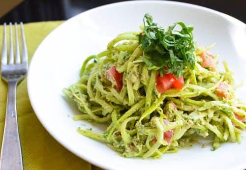 raw zucchini pasta