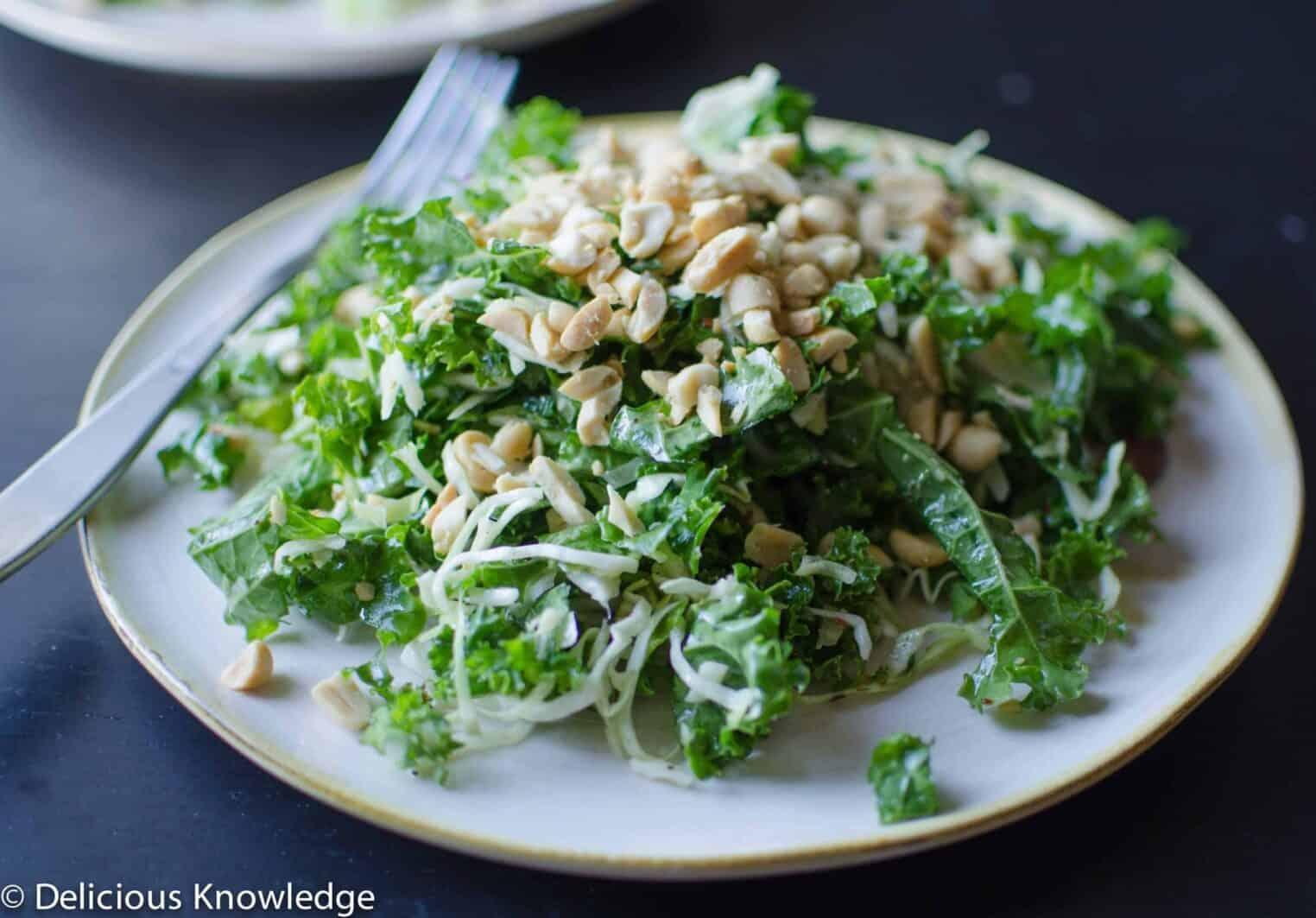 peanut kale salad