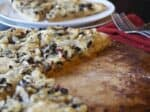 Vegan Pissaladiere (french olive and onion pizza)