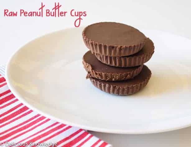 Raw Peanut Butter Cups! Vegan peanut butter cups with homemade chocolate.