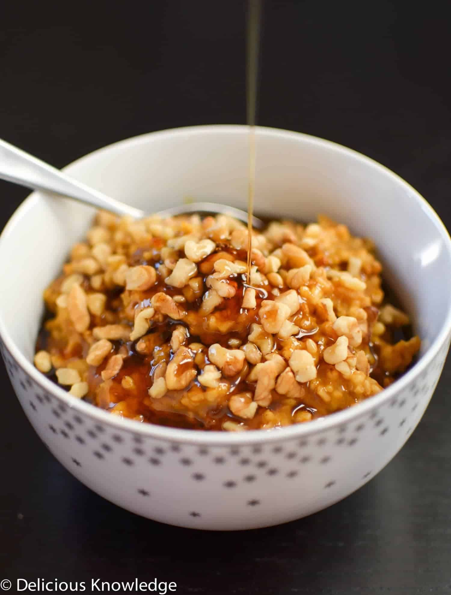 Pumpkin Maple Overnight Oatmeal (make in the slow cooker) - Delicious ...