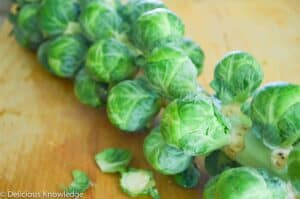 Fresh Brussel sprouts are the best for this recipe