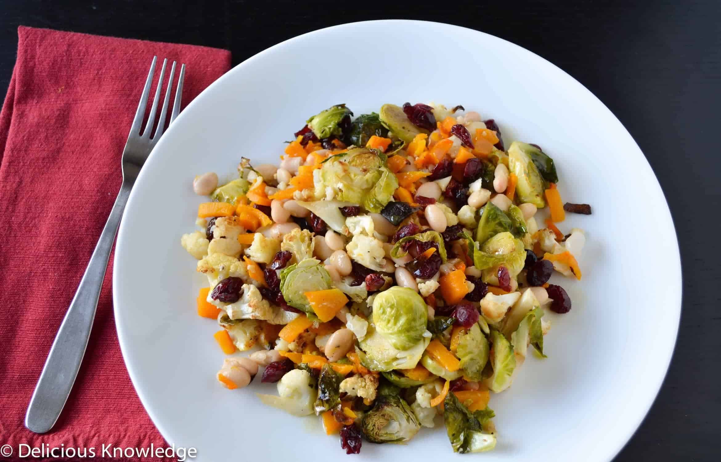 Cauliflower And Brussels Salad Recipe — Dishmaps