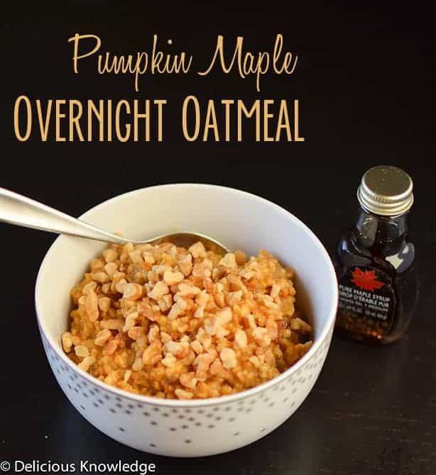 Pumpkin Maple Overnight Oatmeal (make in the slow cooker)