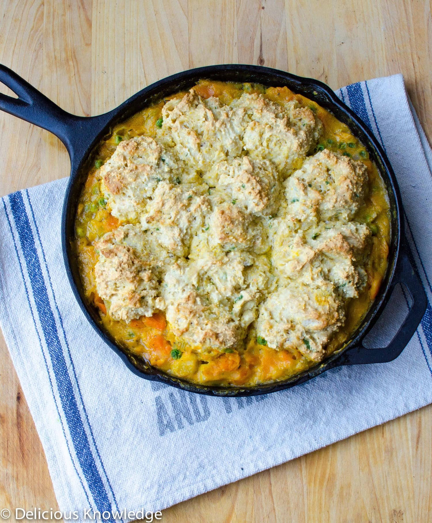 Root Skillet Vegetable Pie with Scallion Biscuits
