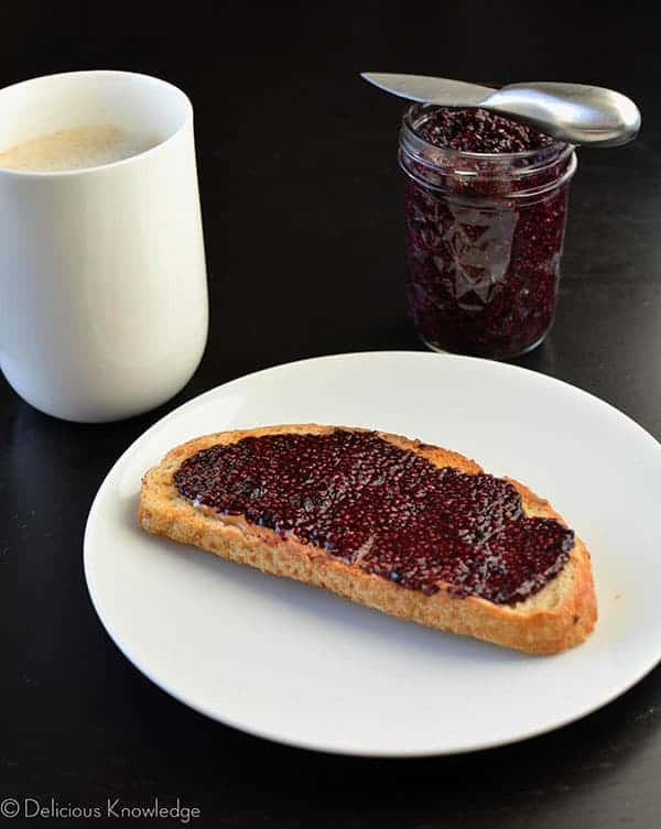 This blueberry chia jam is perfect for breakfast or a light snack!