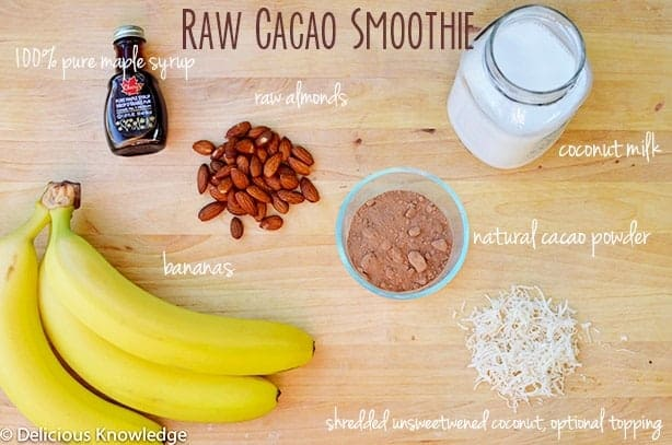 Raw Cacao Smoothie & Pre-Workout Fuel