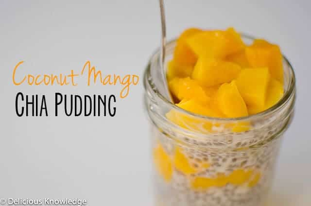 Coconut Mango Pudding made with chia seeds