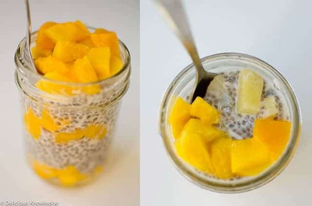 Vegan tropical pudding! Packed with mango, pineapple and chia seeds ...