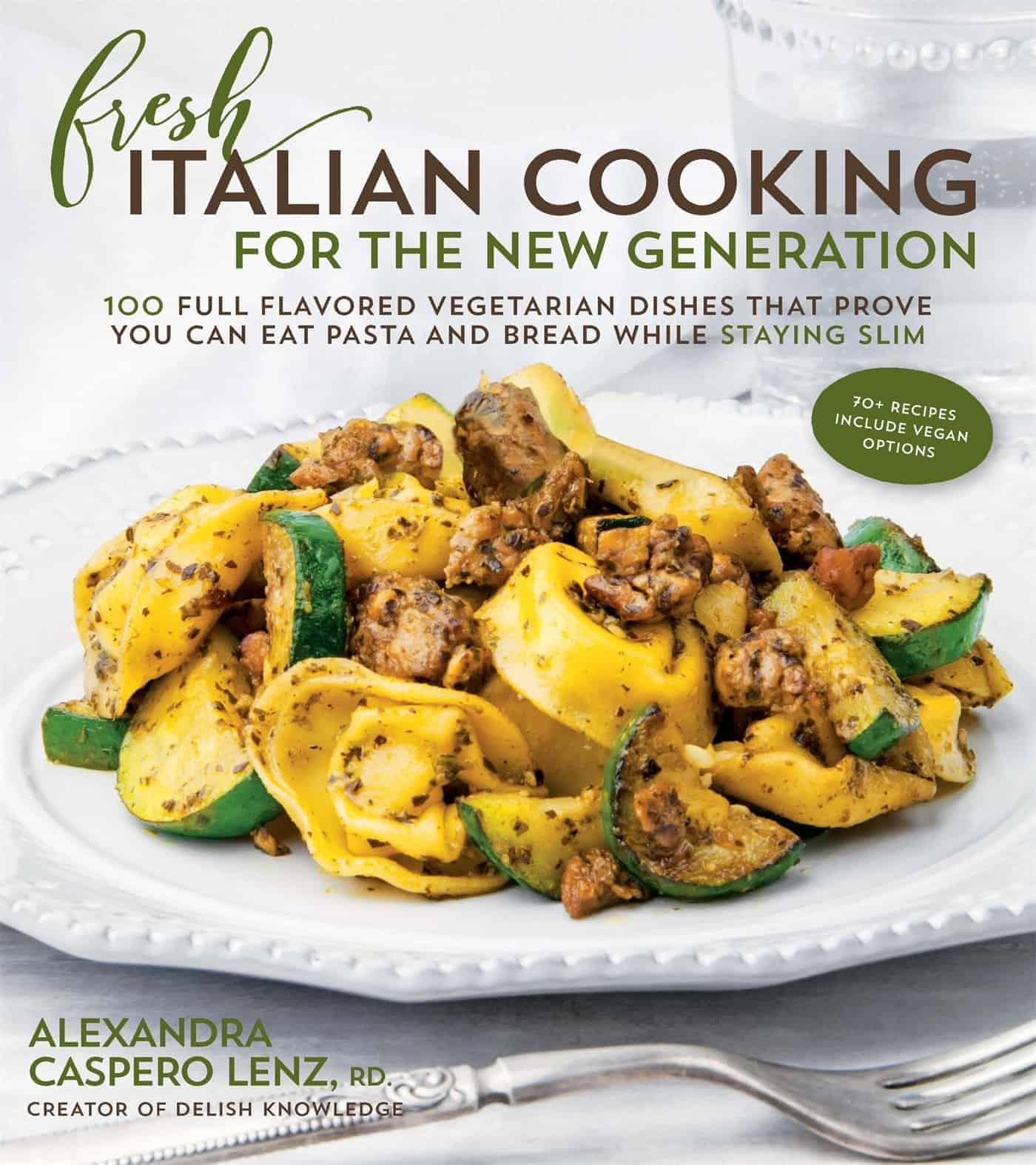 Author of Fresh Italian Cooking for the New Generation (Page Street Publishing) 100 Full-Flavored Vegetarian Dishes That Prove You Can Stay Slim While Eating Pasta and Bread.