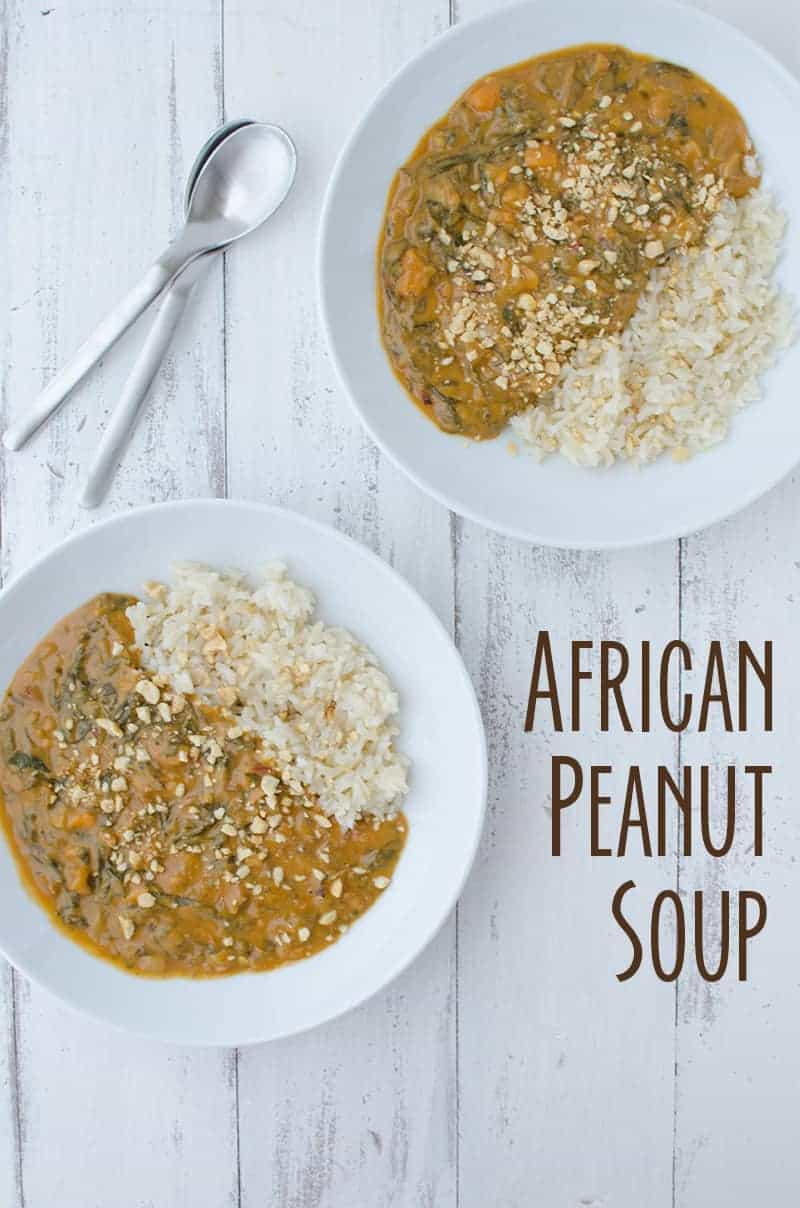 Vegan African Peanut Soup! If you haven't had peanut soup before, you must try this one! Vegan, gluten-free and healthy! Serve on it's own or with brown rice. | www.delishknowledge.com