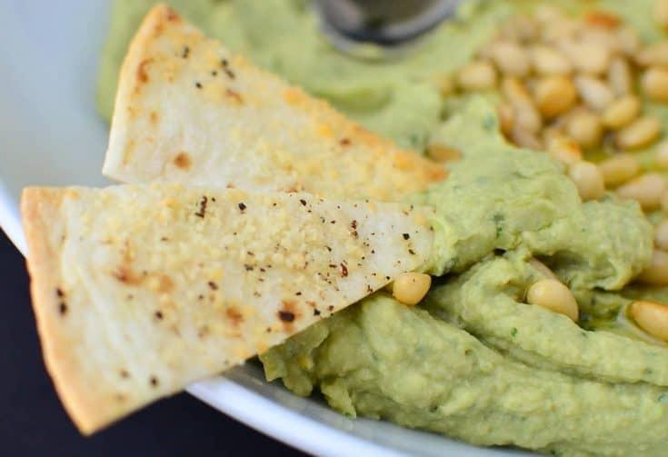 Avocado Pesto Hummus
