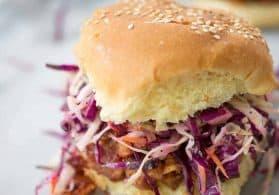 Vegan BBQ Tempeh Sandwiches