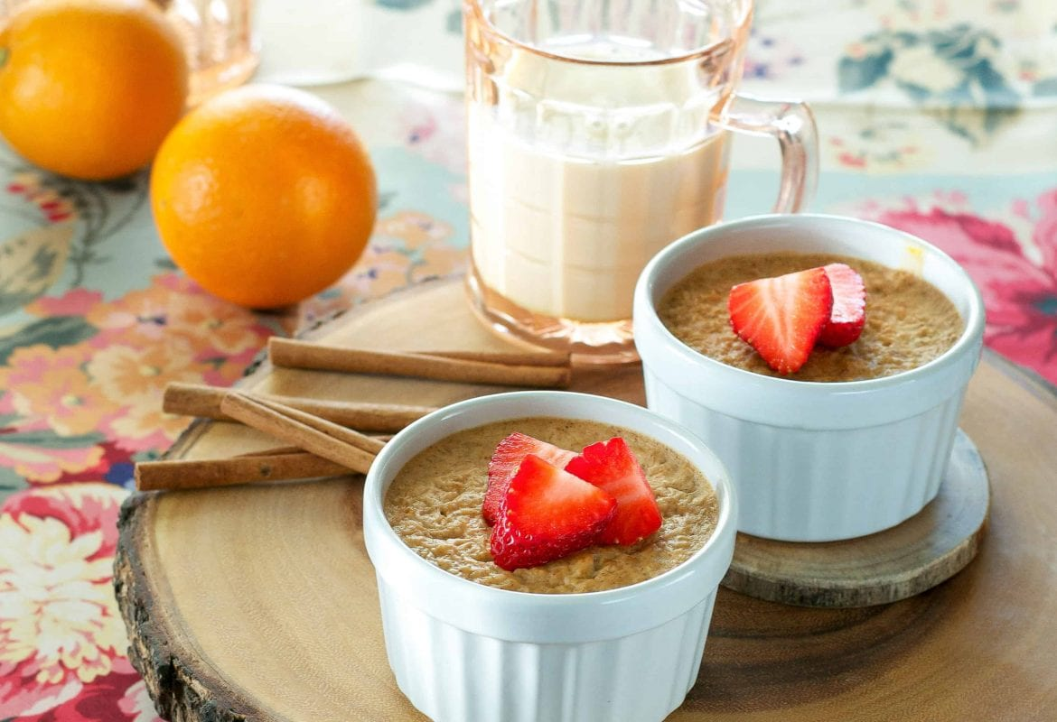 Baked Almond Butter & Apricot Oatmeal Bowls!