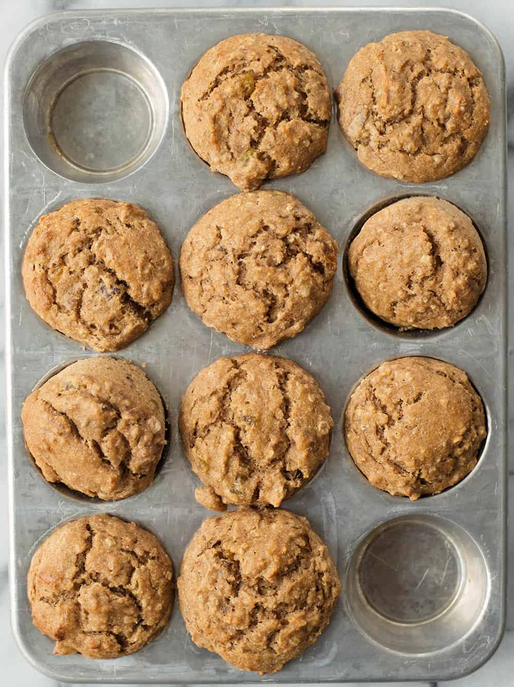 pan of healthy vegan muffins