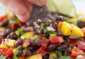 Fresh Black Bean and Mango Salsa