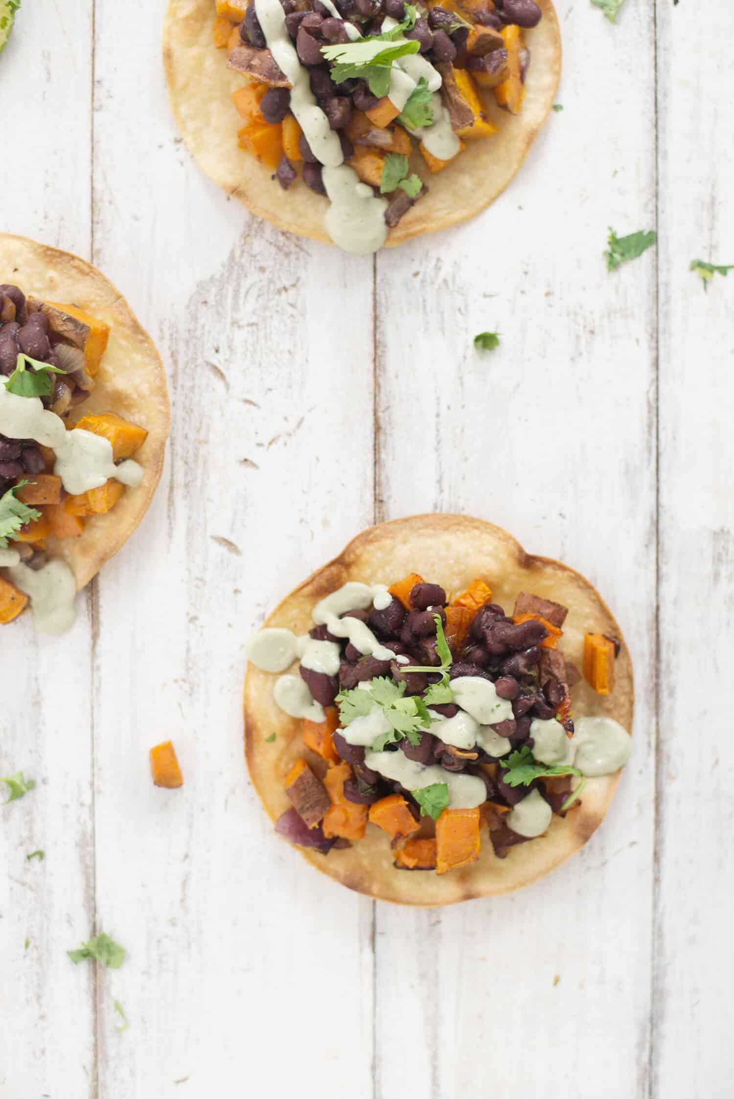 Black Bean and Sweet Potato Tostadas - Delish Knowledge