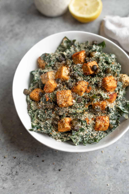 Blackened Tofu Caesar Salad