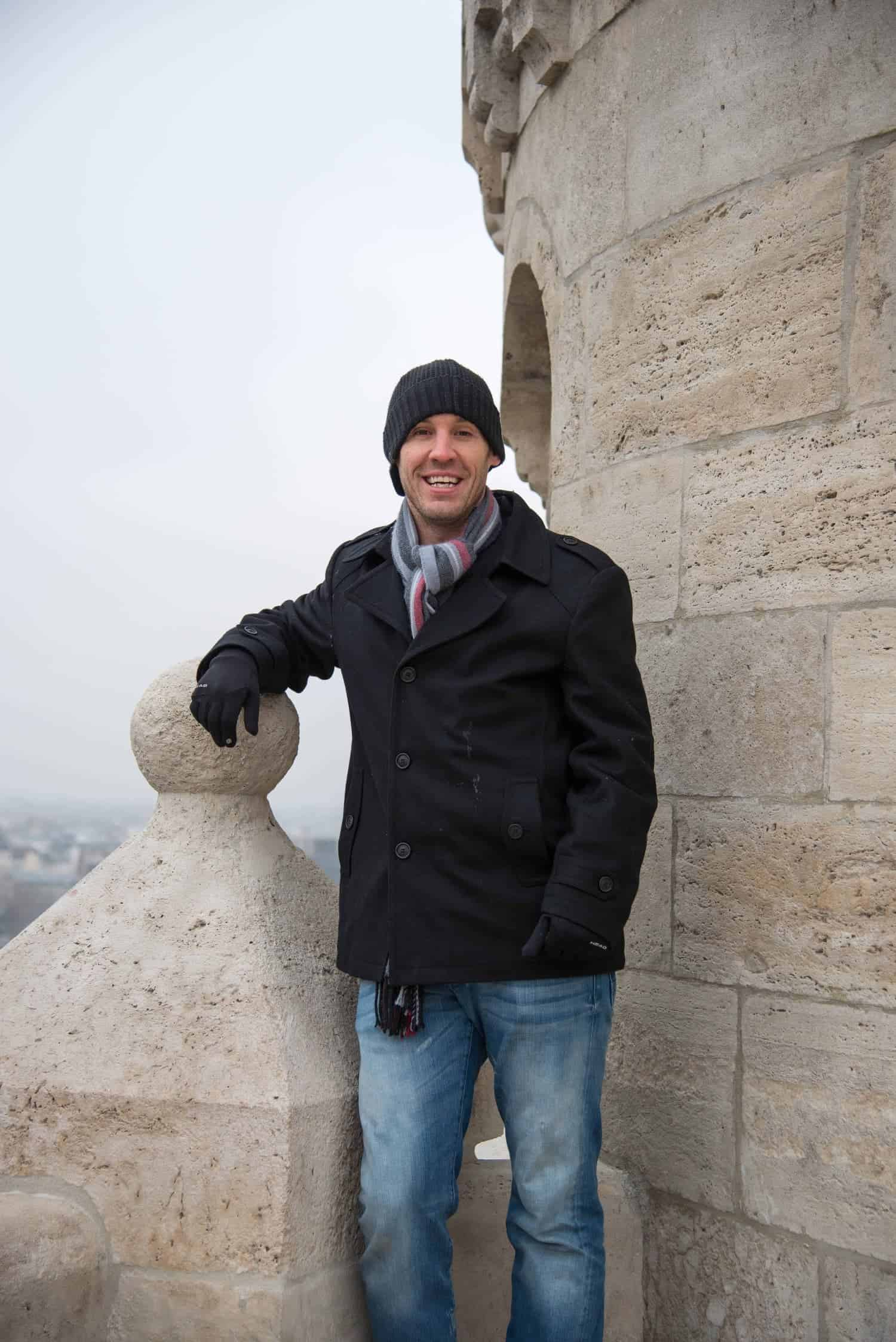 Atop some castle in Buda