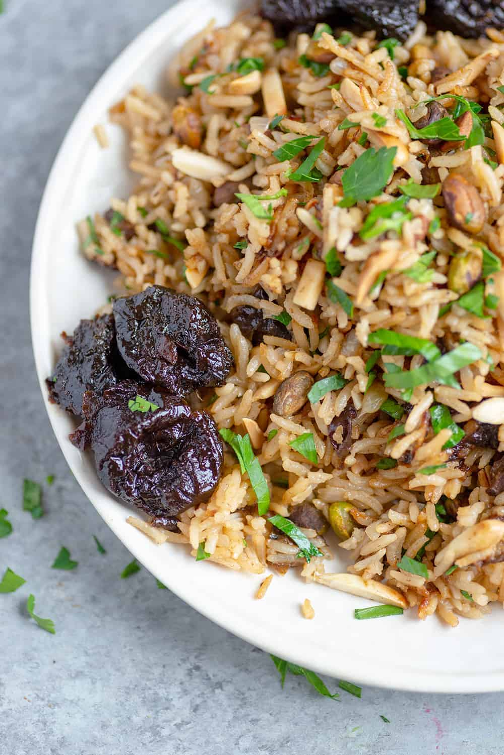 Healthy Rice Pilaf Recipe with prunes