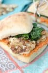 The BEST vegan sandwich! Crispy Cauliflower, Garlic Spinach and Quick Romesco sauce. Perfect for picnics, lunch, or easy dinners. #vegetarian #vegan #healthy   www.delishknowledge.com