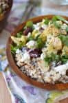 CauliPOWER Rice Bowls! Vegetarian & Gluten-Free Bowls with Roasted Cauliflower, Sprouted Rice & Quinoa, Mint, Cranberries and almonds with a creamy lemon dressing. | www.delishknowledge.com
