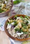 CauliPOWER Rice Bowls! Vegetarian & Gluten-Free Bowls with Roasted Cauliflower, Sprouted Rice & Quinoa, Mint, Cranberries and almonds with a creamy lemon dressing.   www.delishknowledge.com