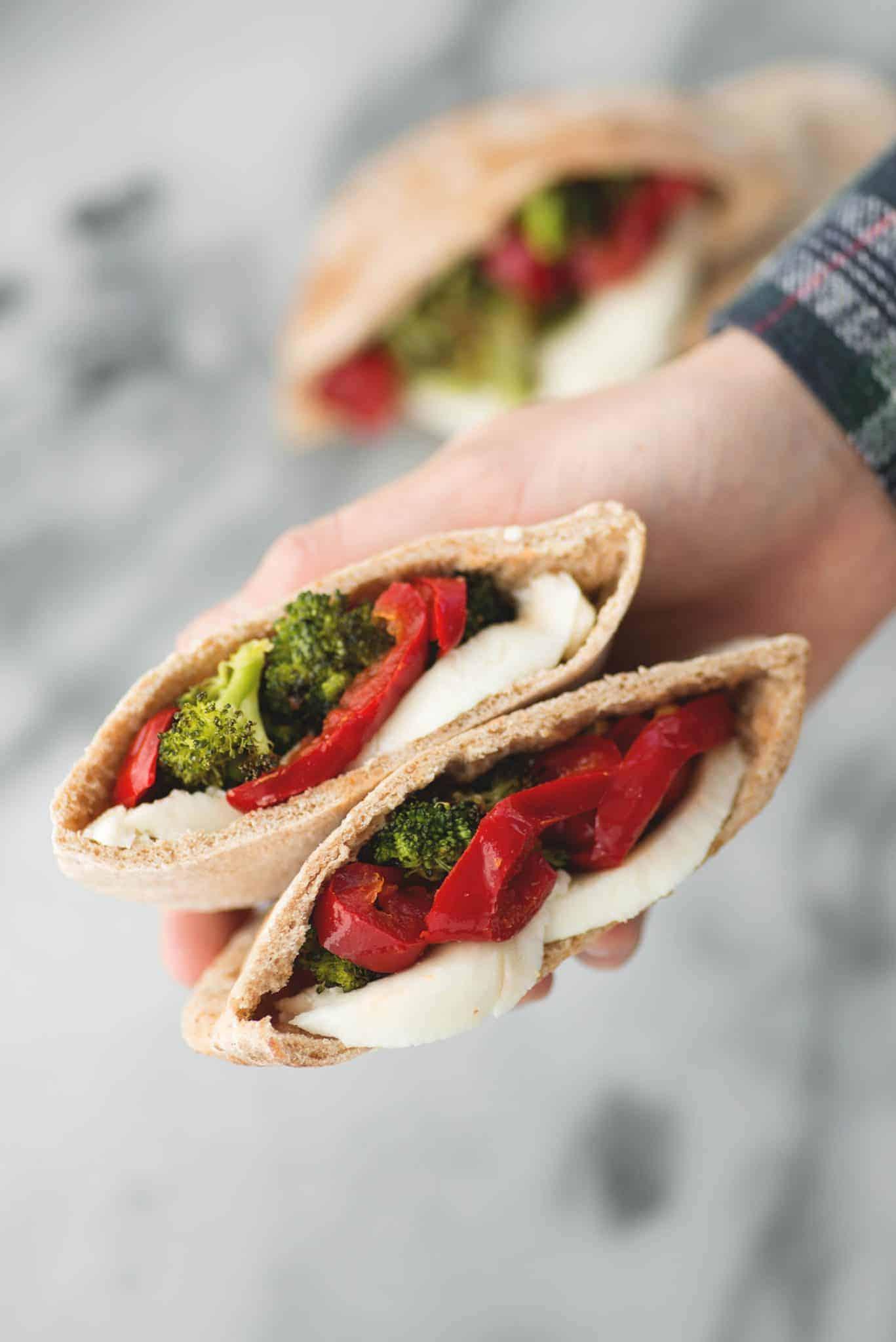 Charred Broccoli and Mozzarella Sandwich! A unique take on a vegetarian sandwich. Spicy, creamy and delicious. | www.delishknowledge.com