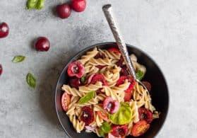 Cherry Caprese Pasta Salad