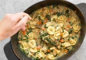 Creamy Chickpea Tortellini Soup