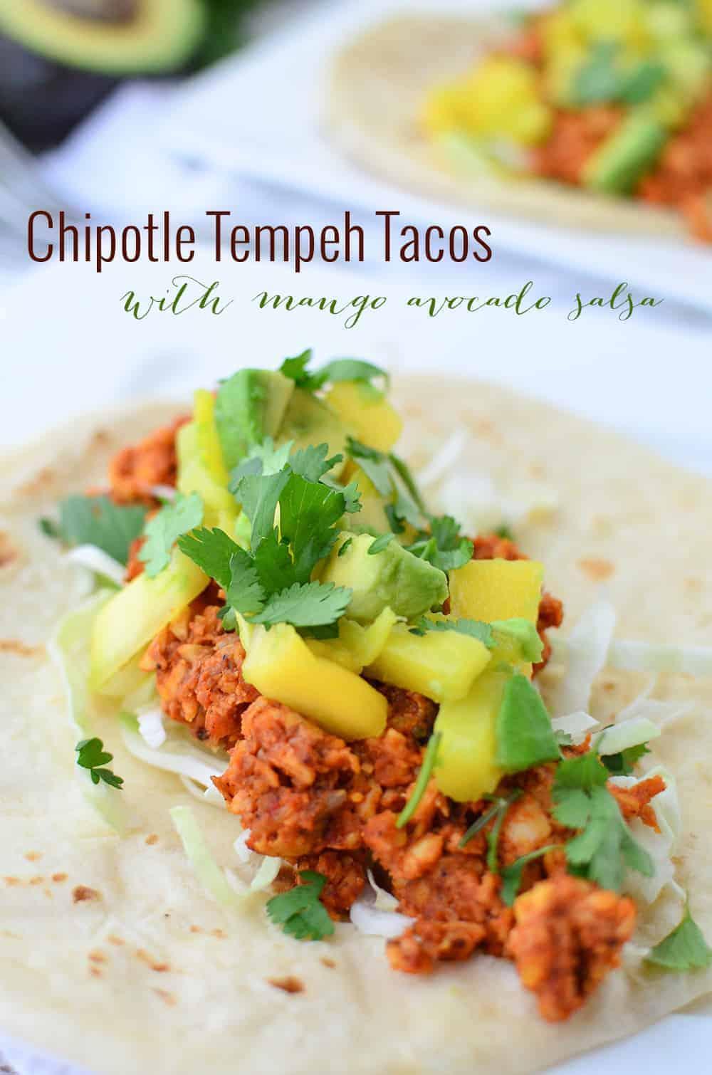 chipotle tempeh tacos delish knowledge