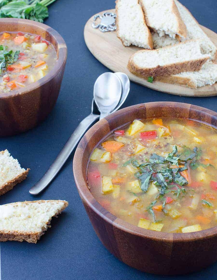 Serving this soup with healthy grains keeps it good for you too!