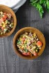 grilled corn and farro salad