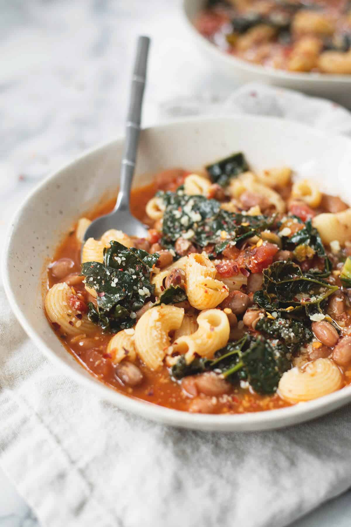 Cranberry Bean Pasta Fagioli - Delish Knowledge