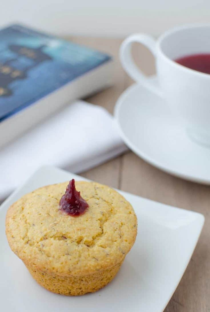 Vegan Cranberry Corn Muffins