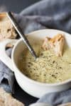 Cream of Broccoli Soup! This vegan broccoli soup tastes so much better than any canned variety! Delicious! | www.delishknowledge.com