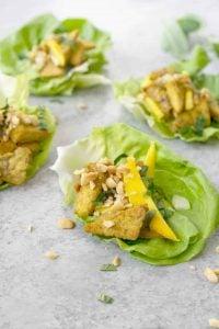 vegan tempeh lettuce wraps