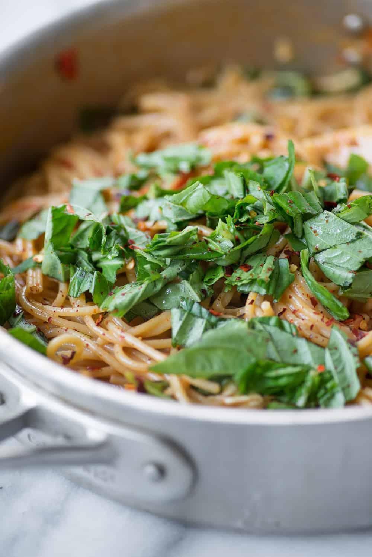 easy caprese brie pasta