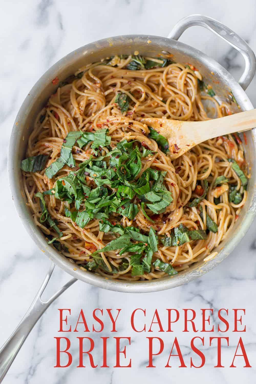pan of brie pasta