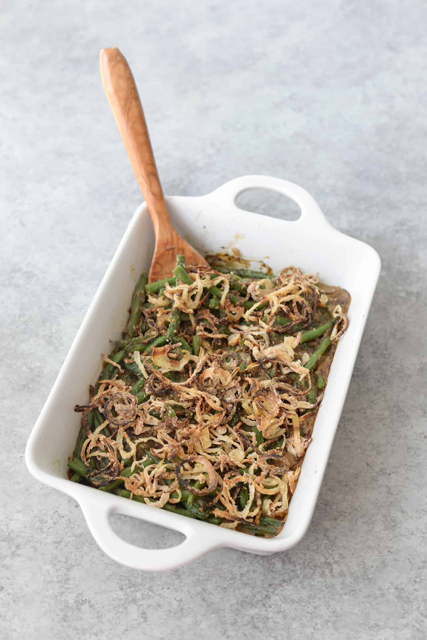 Vegan Fresh Green Bean Casserole!