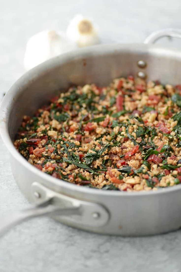 Swiss Chard Ancient Grains Salad